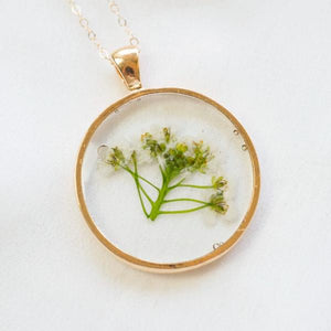 Pressed Alyssum Essential Blooms Necklace
