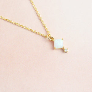 Opal and Cubic Zirconia Necklace