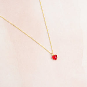 Red Quartz Heart Necklace