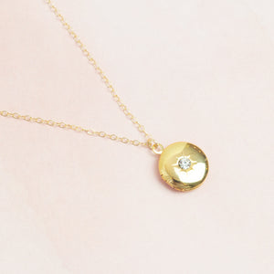 Starburst Circle Locket