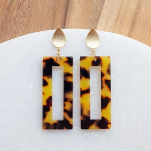 Dark Caramel Tortoiseshell Earrings