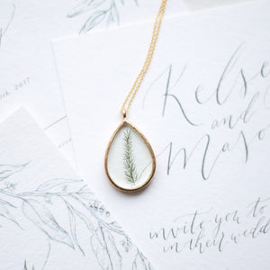 Teardrop Fern Essential Blooms Necklace