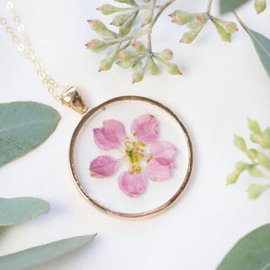 Pink Larkspur Essential Blooms Necklace