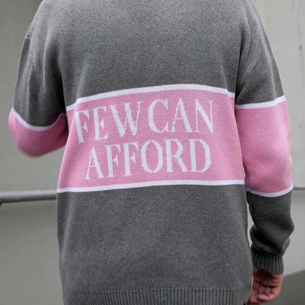 "Knitted retro sweater ""I'm a luxury few can afford"""