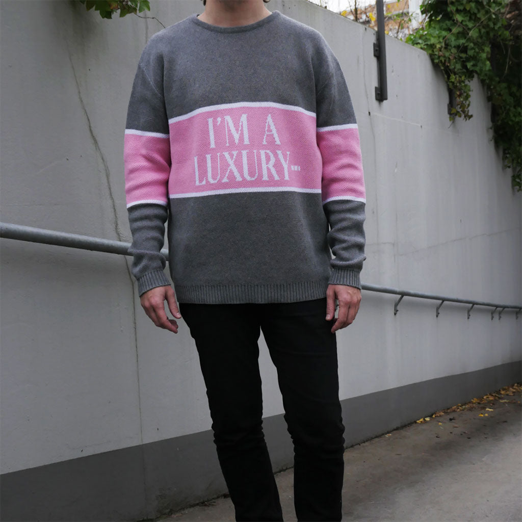 """I'm A Luxury Few Can Afford"" Unisex 100% Cotton Knitted Sweater"