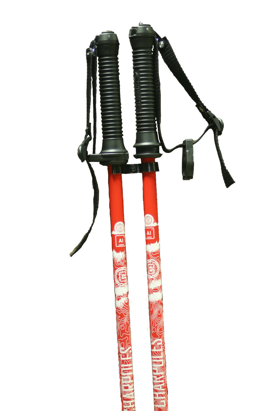 TRAJECTORY Aluminum Ski Pole - Red