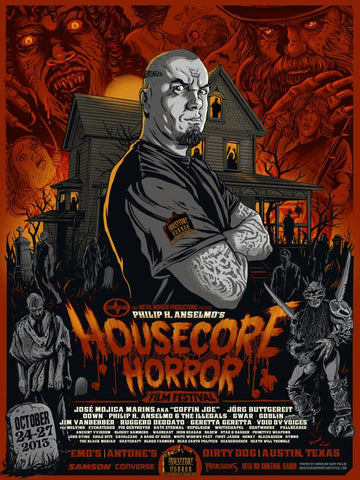 POSTER HOUSECORE MUSIC HORROR FESTIVAL AUSTIN, TEXAS