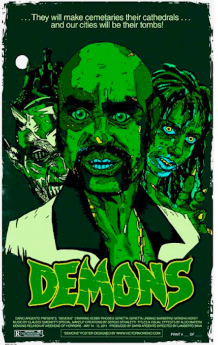 POSTER RARE! GREEN DEMONS MOVIE