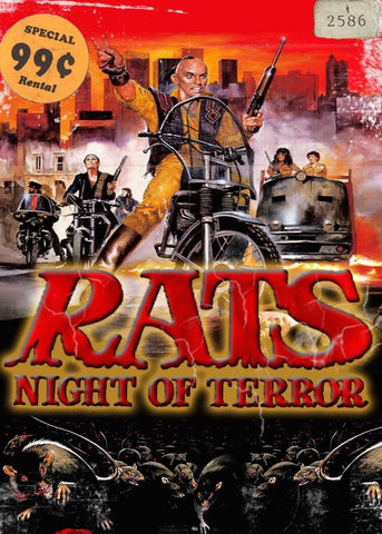 POSTER RATS NIGHT OF TERROR Hand Drawn