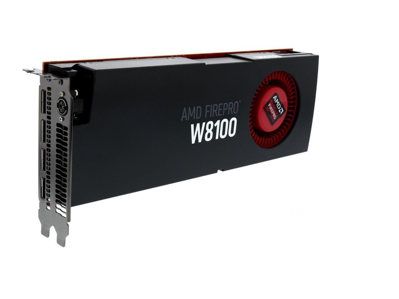 AMD FirePro W8100 100-505976 8GB 512-bit GDDR5 PCI Express 3 0 x16  CrossFire Supported Workstation Video Card