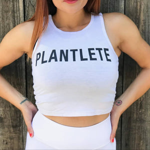 PLANTLETE RACER BACK CROP TANK FOR HER