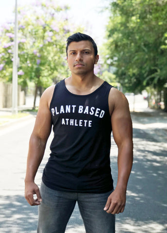 PLANT BASED ATHLETE CUT-OFF TANK BLACK
