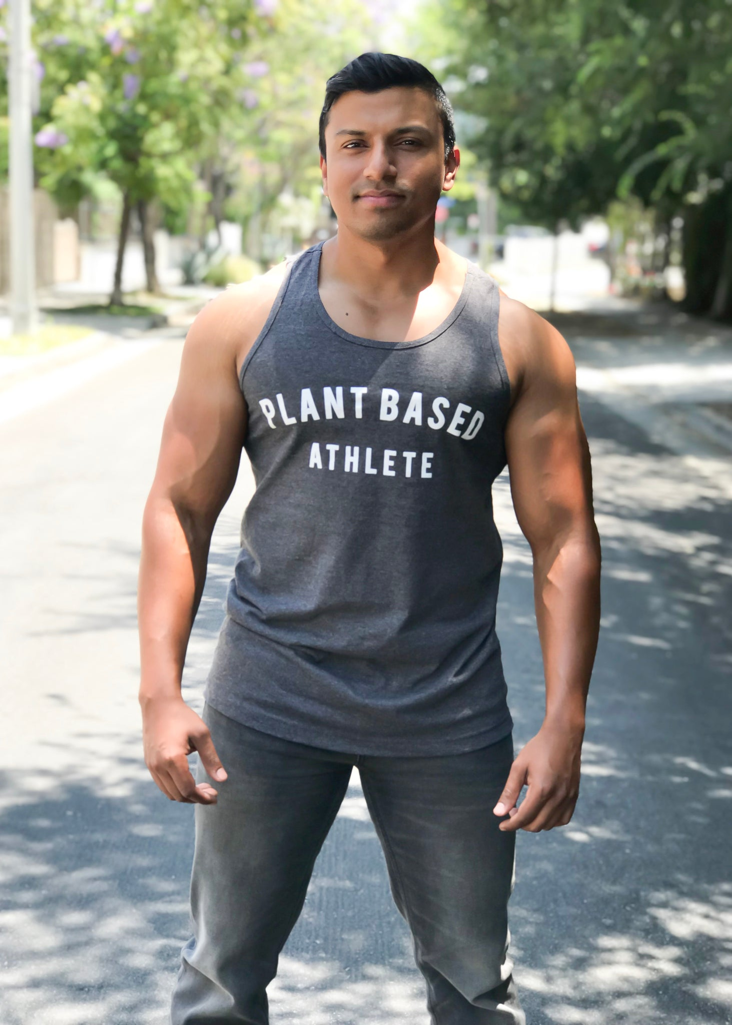 PLANT BASED ATHLETE CUT-OFF TANK GREY
