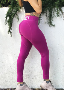 MAGENTA HEART VEGAN BOOTY LEGGINGS