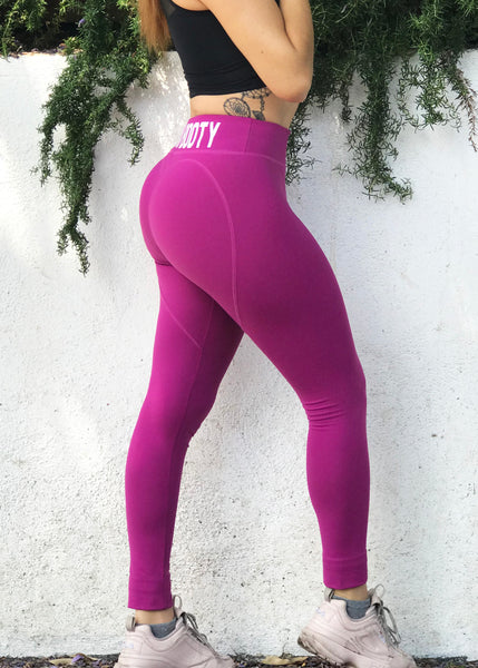 Vegan Booty Magenta Heartshape Leggings