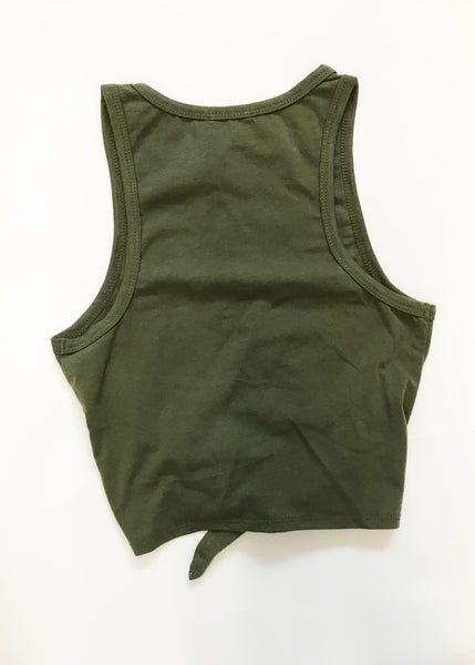 OLIVE GODDESS CROP TOP