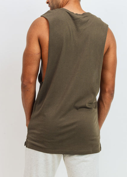 Vegan Athlete Essential Cotton-Blend Jersey Muscle Shirt