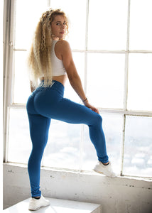 ROYAL SCRUNCH VEGAN BOOTY LEGGINGS