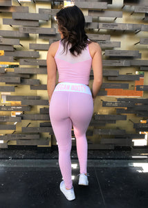 LIGHT ROSE VEGAN BOOTY LEGGINGS