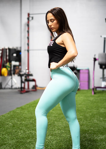 AQUA SCRUNCH VEGAN ATHLETE LEGGINGS