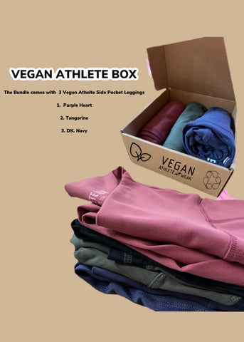 Bundle 3 Vegan Athlete Side Pocket Leggings