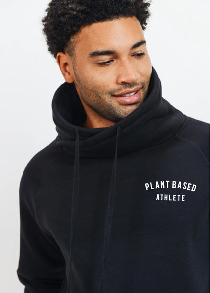 Plant-Based Athlete Criss-Cross Cowl Neck Drawstring Pullover