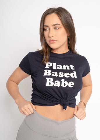 PLANT BASED NAVY T-SHIRT