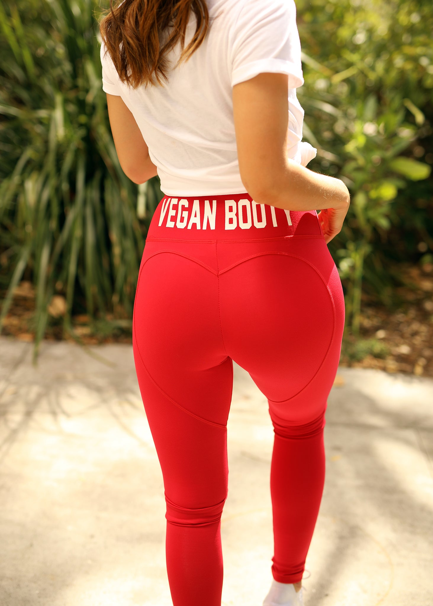 Vegan Booty Red Heartshape Leggings