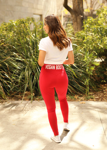 RED HEART VEGAN BOOTY LEGGINGS