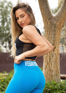 SEA BLUE HEART VEGAN BOOTY CAPRI