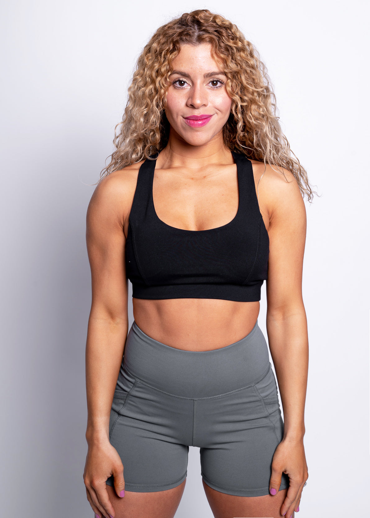 BLACK VEGAN ATHLETE SPORT BRA