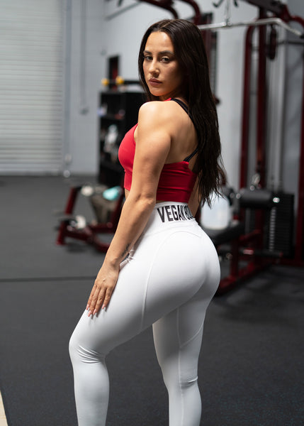 WHITE VEGAN BOOTY LEGGING