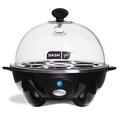FREE SHIPPING - Dash Rapid Egg Cooker: 6 Egg Capacity Electric Egg Cooker for Hard Boiled Eggs, Poached Eggs, Scrambled Eggs, or Omelets with Auto Shut Off Feature - Black: Electric Egg Cookers: Kitchen & Dining - Outlist