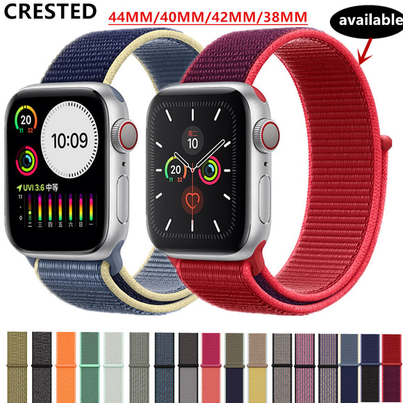 Strap For Apple Watch band apple watch 5 3 4 band 44mm/40mm Sport loop iwatch band 5 42mm 38mm correa pulseira nylon watchband - Outlist