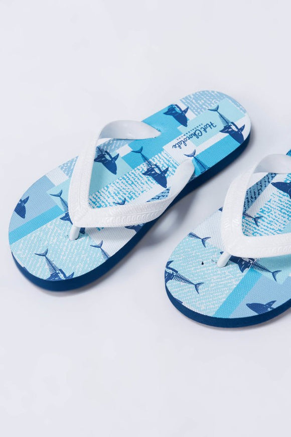 Navy Blue Boys' Slippers - Outlist
