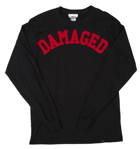 DAMAGED CHAMPION LONG SLEEVE TSHIRT