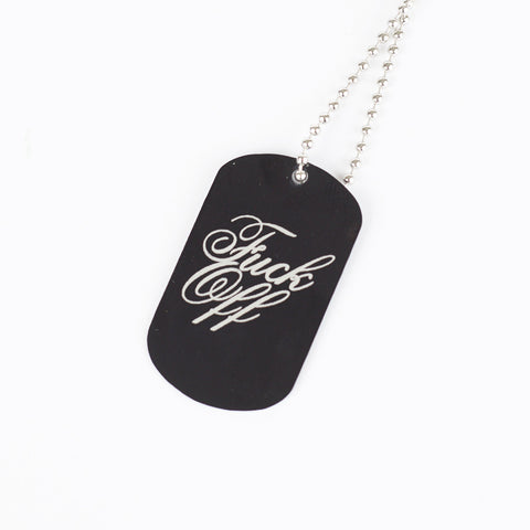 F.O. DOG TAG & BALL CHAIN NECKLACE