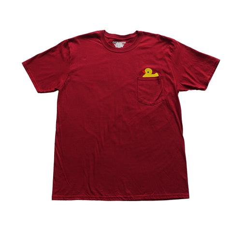 Duck Pocket Tshirt - Red