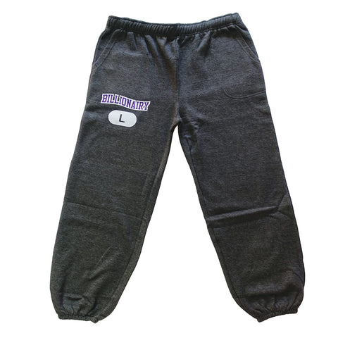 Billionairy Sweat Slacks - Charcoal Grey