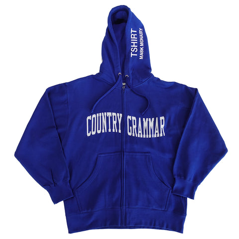 Country Grammar Zip Front Hoodie - Royal