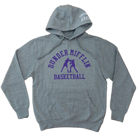 Dunder Mifflin Basketball Hoodie - Sports Grey