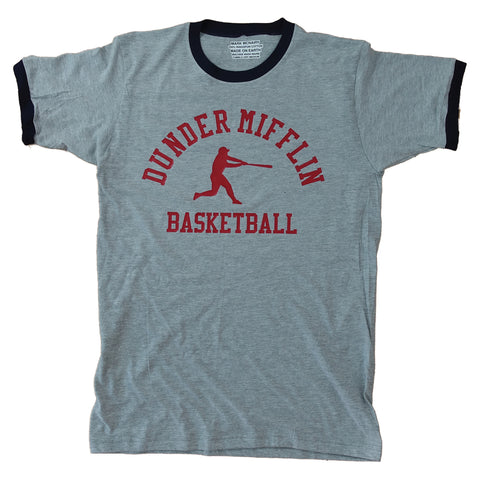 Dunder Mifflin Ringer - Sports Grey