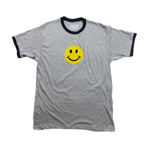 Smiley Ringer - Sports Grey