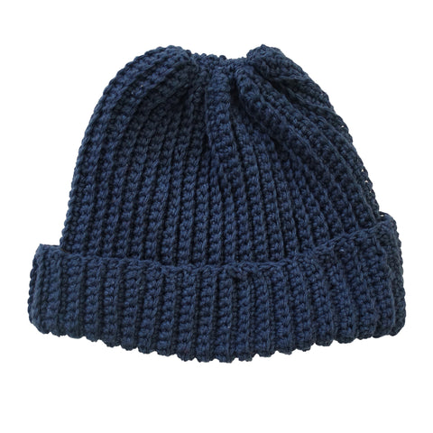 Cotton Indigo Watch Cap