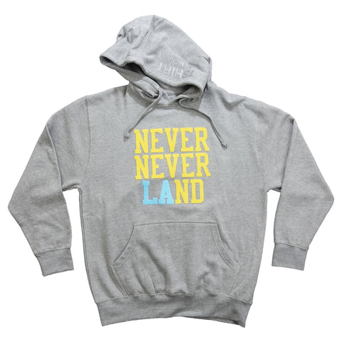 Never Never Land Hoodie - Sport Grey