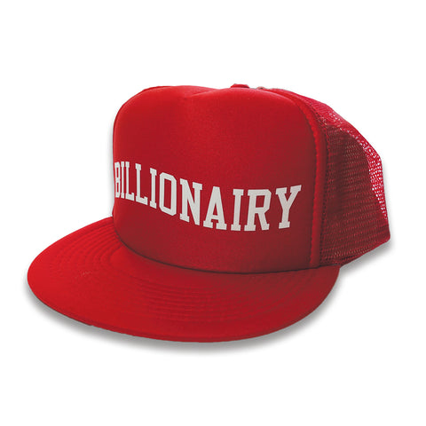 Billionairy Mesh Snapback - Red