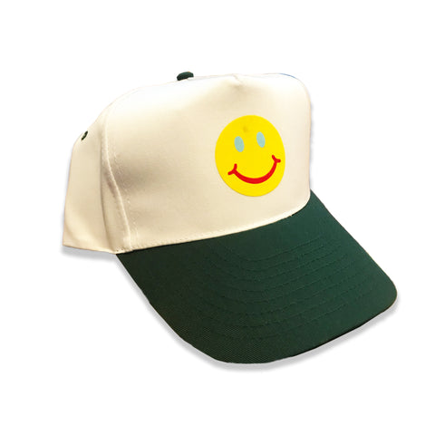Smiley Trucker - White/Forest Green