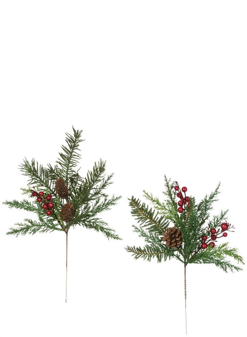 Fir Pine with Berry Pick - Assortment 2