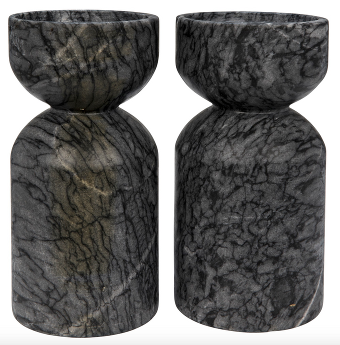Marble Decorative Candle Holders.  Set of 2