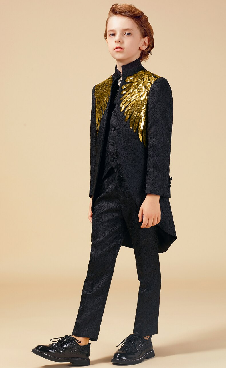 Gold Sequins Lux Suit